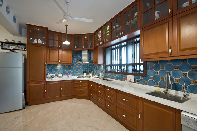 How to Install More Storage Space in Your Kitchen by Using Cabinets in an L-Shaped Kitchen Layout